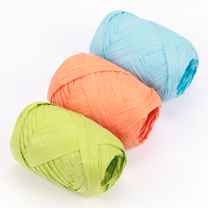 Colorful Flower Christmas Gift Wrapping DIY Craft Ribbon Paper Raffia